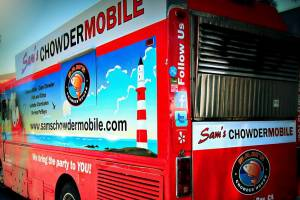 One of four mobile trucks spreading Sam's Chowder House goodness throughout the Bay area.